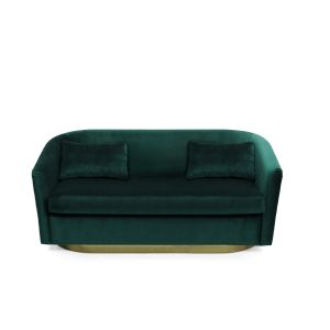 Brabbu earth 2 seat sofa Dark Green Velvet