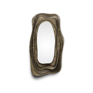 Brabbu Kumi mirror Brushed Brass