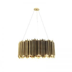 Brubeck round suspension Gold plated