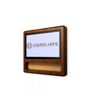 Essential home franco tv screen Walnut Wood & Straw & Magic Mirror
