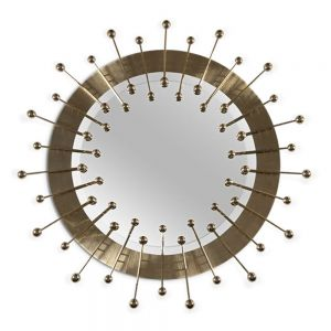 Essential Home Quantum Mirror Gold Plated Brass & Mirror