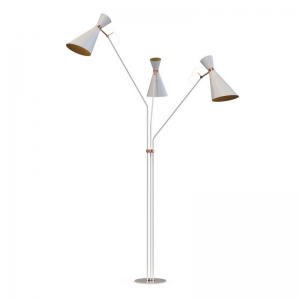 Delightfull simone floor lamp Glossy White & Copper Plated