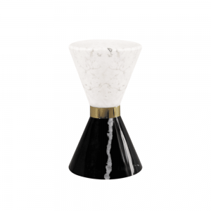 Gold Plated Brass & Polished Nero Marquina Marble & Polished Estremoz Marble