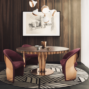 Wormley dining table dining room ambience